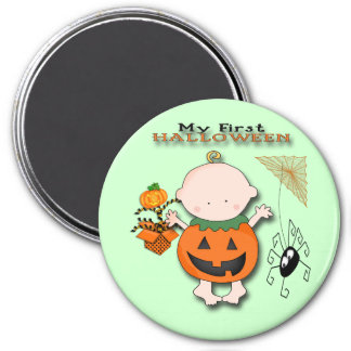 Babypumpa min 1st Halloween rundamagnet Magnet Rund 7.6 Cm