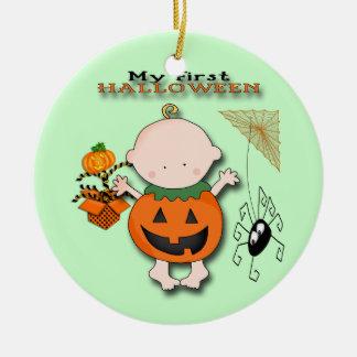 Babypumpa min 1st Halloween rundaprydnad Rund Julgransprydnad I Keramik
