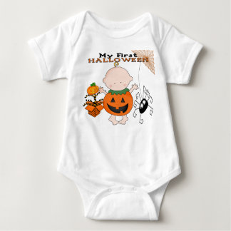 Babypumpa min 1st Halloween spädbarnranka Tee Shirt