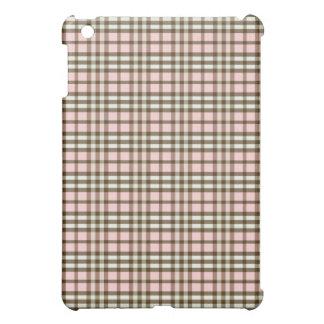 Babyrosa-/chokladpläd Pern iPad Mini Mobil Fodral