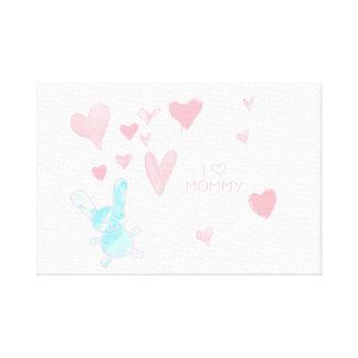 """Babyrum älskar jag mammarosablått 12"""" x 12"""", 1,5"""", canvastryck"""