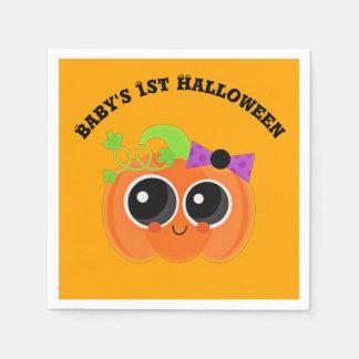 Babys 1st Halloween lite pumpa Papper Servett