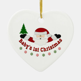 Babys 1st jul julgransprydnad keramik