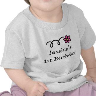 Babys personifierade 1st födelsedagskjorta | flick