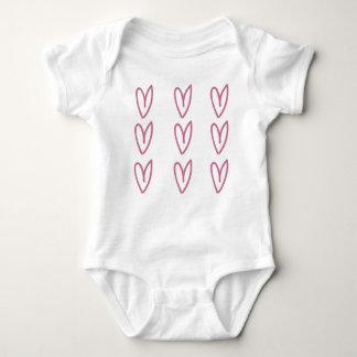 Babyskjorta med hjärtor tröjor