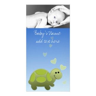 Babysköldpadda Announcment Fotokort