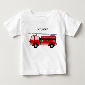 Babyt-Skjortan med avfyrar lastbilen och namn T Shirt