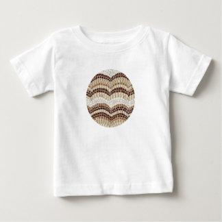 BabyT-tröja med den beige mosaiken T-shirts