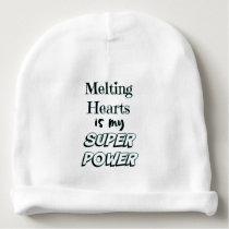 Babytoppen driver smälter hjärtacitationstecken