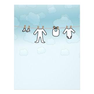 Babytvätt - pojke reklamblad 21,5 x 30 cm
