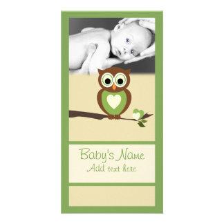 Babyuggla Announcment Fotokort