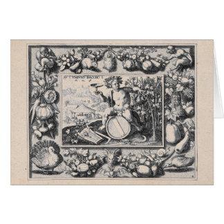 Bacchus/Dionysus gud av vin Hälsningskort