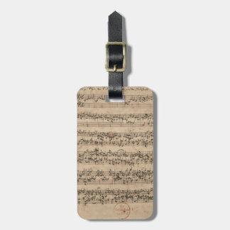 Bach manuskript bagagebricka