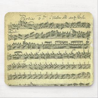 Bach Partita musikmanuskript för solo fiol Musmatta