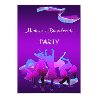 Bachelorette dansparty 12,7 x 17,8 cm inbjudningskort