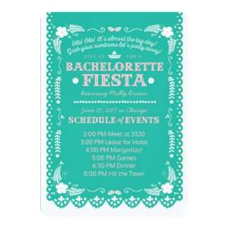 Bachelorette Fiesta 12,7 X 17,8 Cm Inbjudningskort