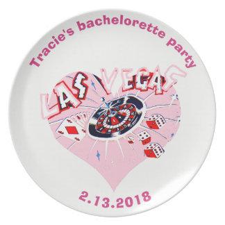 Bachelorette Las Vegas personlig Tallrik