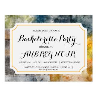 Bachelorette party för vingård- eller vykort