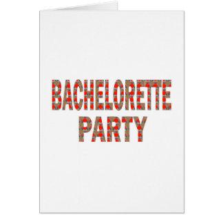 Bachelorette party: Förlovning som gifta sig Hälsningskort