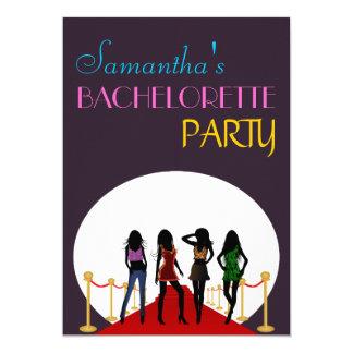 Bachelorette party/hönanattinbjudan 12,7 x 17,8 cm inbjudningskort