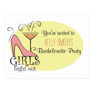 Bachelorette partydesign vykort