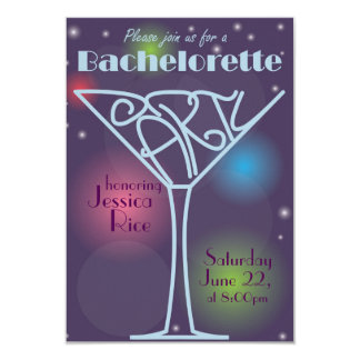 Bachelorette partyinbjudan 8,9 x 12,7 cm inbjudningskort