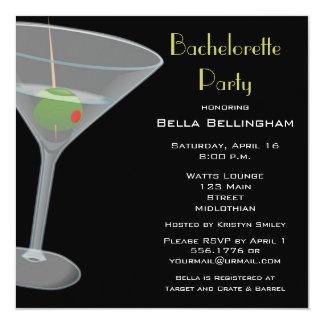 Bachelorette partyinbjudan fyrkantigt 13,3 cm inbjudningskort