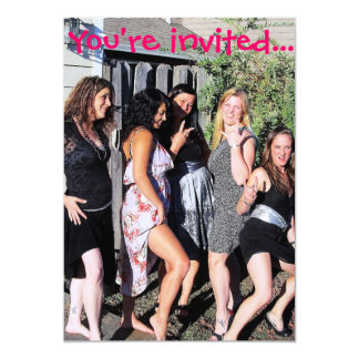 Bachelorette partyinbjudningar 12,7 x 17,8 cm inbjudningskort