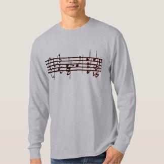 Bachs Chaconne för fiol - första 2 mäter Tee Shirts