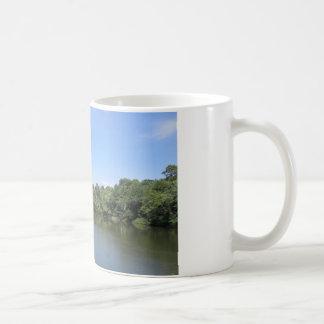 Bäck över överbrygga kaffemugg