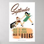 Back to schoolarbete 1940 WPA Posters