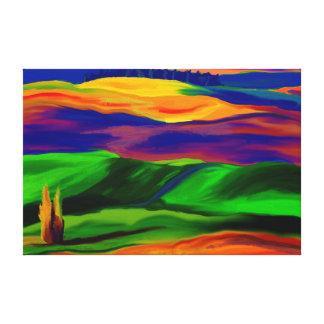 Backar av färgkanvastrycket canvastryck