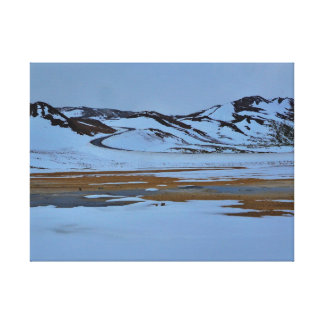 Backar i snön canvastryck