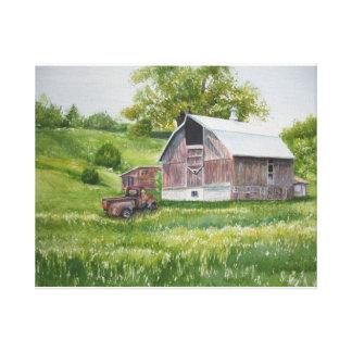 Backesidoladugård och lastbil canvastryck