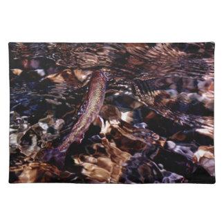Bäckforell i flodvatten bordstablett
