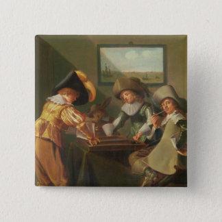 Backgammonspelare, 17th århundrade standard kanpp fyrkantig 5.1 cm