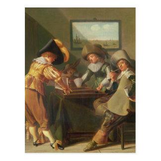 Backgammonspelare, 17th århundrade vykort