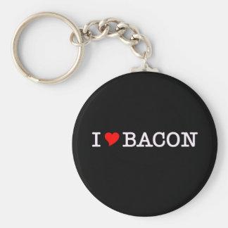 Bacon som jag älskar rund nyckelring