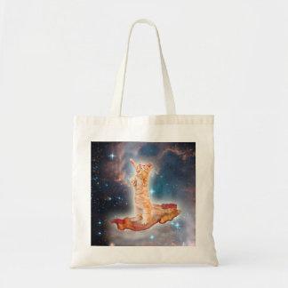 Bacon som surfar katten i universum tygkasse
