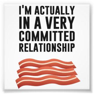 Baconkärlek - ett allvarligt förhållande fototryck