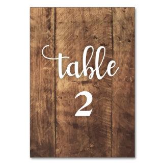 båda sid - trä. lantligt bakgrundsbordkort bordsnummer