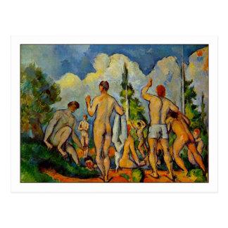 Badare av Paul Cezanne Vykort