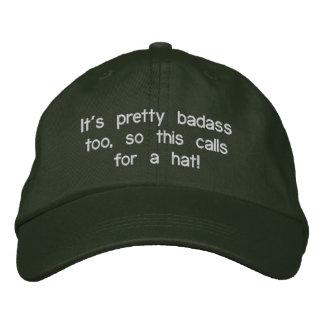 Badass hatt broderad keps