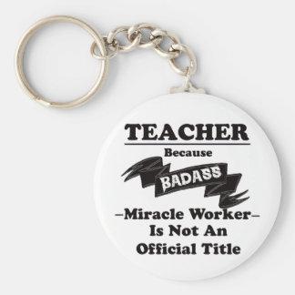 Badass lärare rund nyckelring