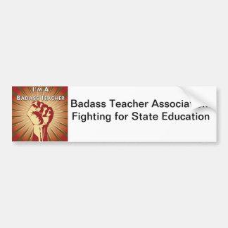 Badass lärareanslutning bildekal