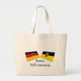 Baden-Wuerttemberg Tysklandflagga belägger med teg Jumbo Tygkasse