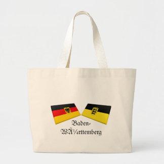 Baden-Wuerttemberg Tysklandflagga belägger med teg Tote Bag