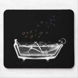 Badet badar röntgar skelett - regnbågen bubblar musmatta