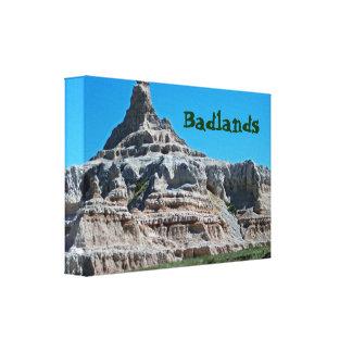 Badlands nationalpark, South Dakota Canvastryck