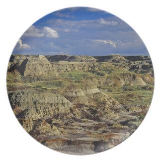 Badlandsbildande på den provinsiella dinosauren pa tallrik